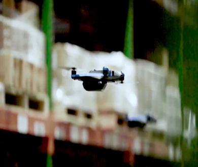 Ware drones read RFID to track warehouse inventory.