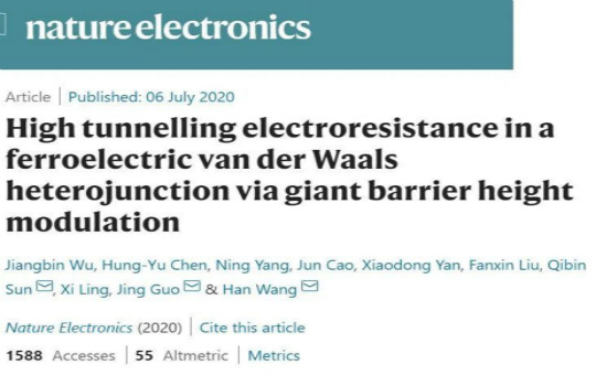 A high-performance memory solution based on van der Waals ferroelectric tunnel junction.