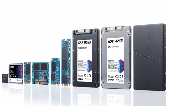 TDK introduced a highly reliable SSD using 3D NAND flash memory.